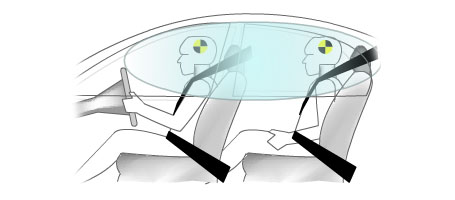 Side Curtain Airbags with Rollover Sensors